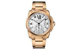 8 real gold watches for men in 2017 cartier calibre de cartier