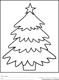 Christmas Tree Coloring Pages Simple Pinterest 24593310 Attachment