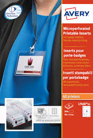 How To Print Avery Name Badges Avery Name Badges Laser Printable Refill Kit 8 Per Card W86