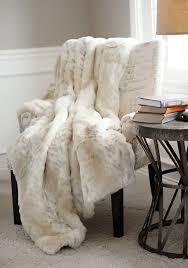 cream furry faux fur throws for your furniture decor idea