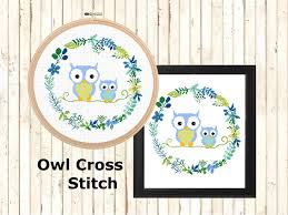 Owl Cross Stitch Pattern Stunning Modern Owl Cross Stitch Pattern Nursery Owl Cross Stitch Leia