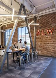 Modern office lighting Hanging Alw Cool Modern Office Lighting Alw Hq Oakland Liquidleds Gallery In 2019 Alw Creative Lighting Projects Office Lighting