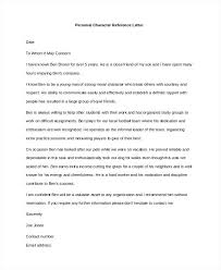 Awesome Collection Of Sample Good Character Reference Letter ...