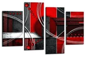 large red black grey abstract canvas wall art picture split multi 4 panel set and white on canvas wall art black white with red umbrella 215 x 325 with large red black grey abstract canvas wall art picture split multi 4