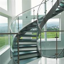 china modern design interior curved glass staircase with tempered glass railing china curved staircase glass staircase