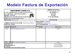 Formato De Factura De Exportacion Documentacion Impositiva