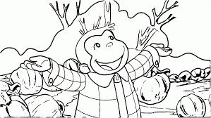 Curious George Halloween Party Boo Fest For Kids Coloring Page