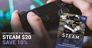 Steam gift cards are basically used for getting digital products to form steam stores at free of cost but in reality, it is not free. Gift Card Of The Week Steam 20 Mygiftcardsupply