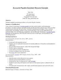 Accounts Payable Resume Summary Resume Cv Cover Letter