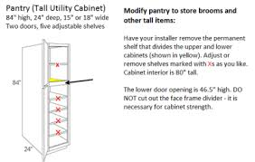 Pantry Cabinet: Deep Pantry Cabinet with Kitchen Cabinet ...