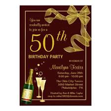 50th Birthday Party Invitations Customize The Year Zazzle