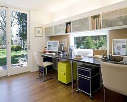 modern home office wall colors. small home office design with double table using black marble top set and cream modern wall colors c