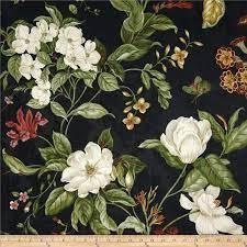 waverly garden images black fabric
