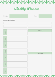 Printable Weekly Planner 9 Free Pdf Documents Download Free