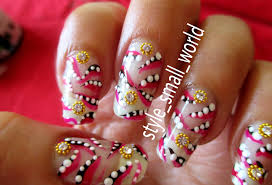 Style Small World...: Easy and simple nail art design at home
