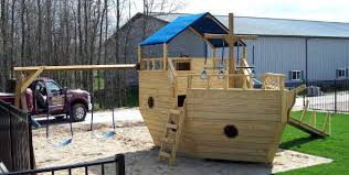 medium play ship shown with optional canopy rockwall heavy duty slide and swingset