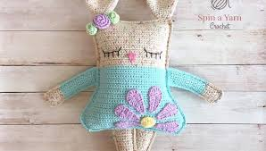 Free Crochet Bunny Pattern Mesmerizing Ragdoll Spring Bunny Free Crochet Pattern Spin A Yarn Crochet