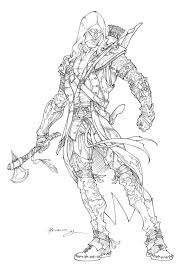 Assassins Creed 3 Connor By Patrick Hennings Medieval Assassins