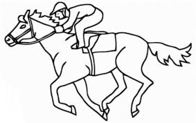 Small Picture Race Horse Coloring Page For Prescool Animal Coloring Pages