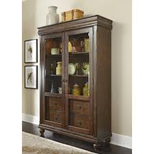 Rustic Tradition Cherry Display Cabinet - Free Shipping Today -  Overstock.com - 17175400