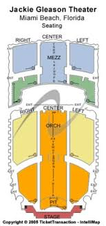 The Fillmore Seating Chart Miami The Fillmore Miami Beach At Jackie Gleason Theater Tickets