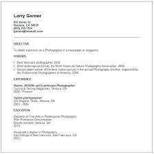 Photographers Resume Sample Resume For Photography Job Photographers