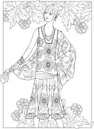 Small Picture 305 best Fashion colouring images on Pinterest Coloring books