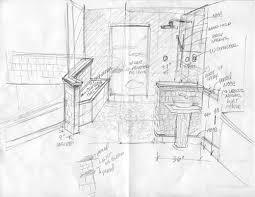 bathroom interior design sketches. 500x387 Inspiration Ideas Bathroom Interior Design Sketches With Tiled