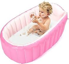 inflatable baby bathtub topist portable mini air swimming pool kid infant toddler thick foldable sho
