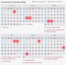 Calendario 2015 Argentina Megalatina Fm Calendario De Feriados 2015 De La Argentina