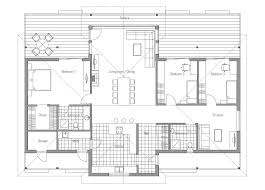 Modern House Plan With Vaulted Ceiling Open Living Area Bedroom Modern Open Floor House Plans