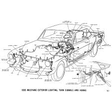 1965 ford mustang electrical schematics Vintage Mustang Horn Repair at Mustang Horn Harness