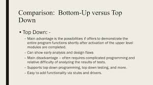 Top Down Design Advantages Chapter 9 Part 1 Software Testing Strategies Lesson