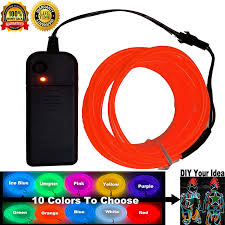 Diy Dancing Lights Shineworld El Wire Kit Diy Decor Neon Lights Wire Glow Wire For Parties Halloween Christmas Dancing 9ft Red