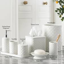 Decorative Bathroom Tray Bathroom Accessory Sets Touch of Class 95