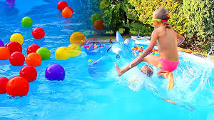 swimming pool for kids. Wonderful For Swimming Pool For Kids Fun Kids With Balls  Colors Learning  CzyWieszJak Intended Pool For Kids I