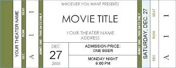 Invitation Ticket Template New Movie Theatre Invitation Templates Wedding Theater Template