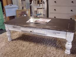 industrial farmhouse coffee table image and description