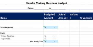 Budget Plan Sample Business Candle Making Business Budget Lovetoknow