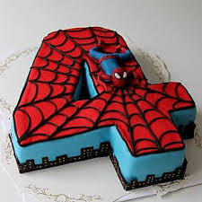 Spiderman Birthday Cake 3kg Chocolate Gift Siperman Design