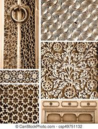 Intricate Patterns Beauteous Collage Of Different Intricate Patterns On The Wall Exteriors