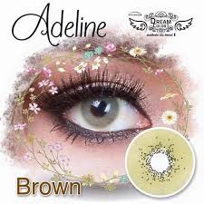 Dream Color Adeline Brown | Softlens Queen - Natural Colored Contact Lenses