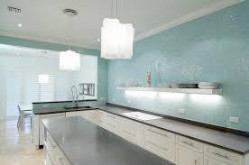 turquoise glass tile backsplash