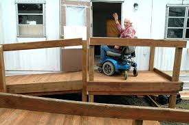 wheelchair ramps for mobile homes ramp home the handicapped