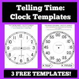 Clock Template Teaching Resources | Teachers Pay Teachers
