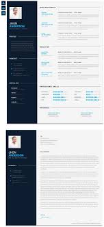 Resume Modern Te Modern Cv Is Clean And Modern Design Psd Template For Awesome
