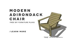adirondack chair plans. I Know You Guys Are Going To Be Excited For This Beauty! Today We Have Gorgeous New Free DIY Furniture Plans Build An Outdoor Modern Adirondack Chair! Chair A