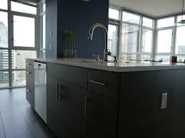 modern cabinet refacing. Textured Innovative Design Series Cabinets, New Island, Quartz Countertops, Linear Glass Blend Tile Backsplash, And Porcelain Floor Modern Cabinet Refacing R