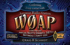 My New Ham Radio Qsl Card To Reflect My New Call Sign After