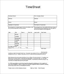 60+ Sample Timesheet Templates - Pdf, Doc, Excel | Free & Premium ...